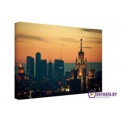 Вечерняя Москва - Модульная картины, Репродукции, Декоративные панно, Декор стен