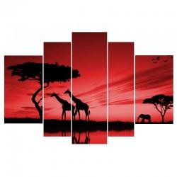 Африка на закате - Модульная картины, Репродукции, Декоративные панно, Декор стен
