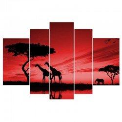 Фото на холсте Печать картин Репродукции и портреты - Африка на закате