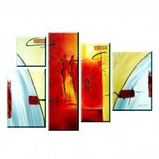 Картина на холсте по фото Модульные картины Печать портретов на холсте Абстракция из 5 частией