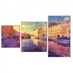 Триптих на воде - Модульная картины, Репродукции, Декоративные панно, Декор стен