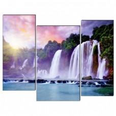 Картина на холсте по фото Модульные картины Печать портретов на холсте Водопад