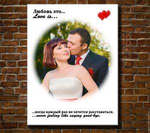 Дизайн фото в стиле Love is...