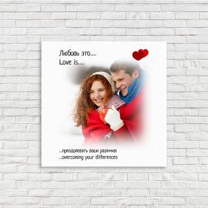 Love is фотография в картину