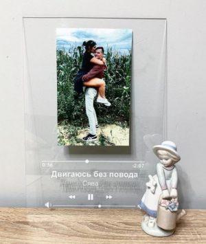 Acryl Spotify Стеклянная панель с фотографией и песней