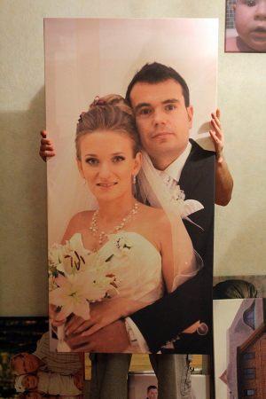 Фотография-картина на свадьбу