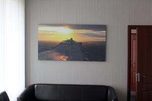 Картина на холсте с фотографией самолета