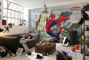 Человек паук на фотообоях
