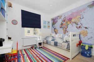 Карта мира для детской комнаты