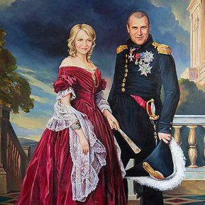 Парный портрет картина - академическая живопись