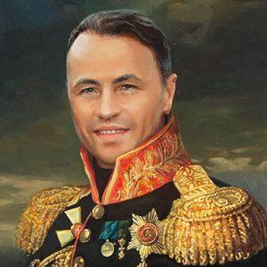 Мужчина в мундире - портрет