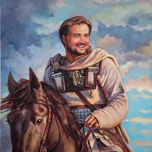 Картина на коне маслом