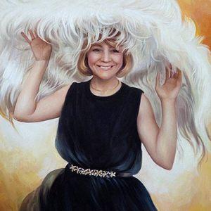Картина - Женщина написанная маслом