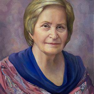 Художественный портрет женщины написанный маслом