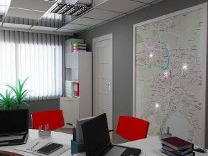 Картина под стеклом в офисе