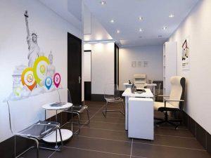 Дизайн стены в офисе