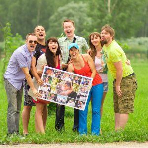 Семейный фотоколлаж картина