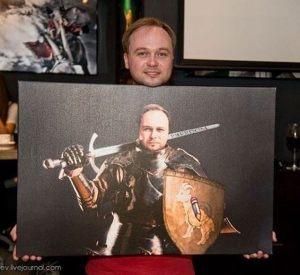 Портрет в образе рыцаря