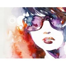 Фотообои - Девушка в очках