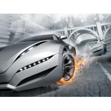 Фотообои - Огненные колеса
