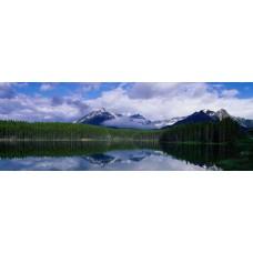 Фотообои - Снежные шапки гор