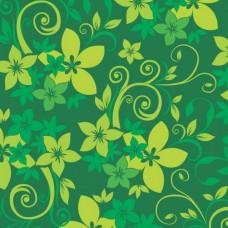 Фотообои - Зеленый узор