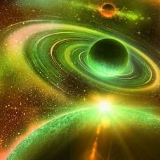 Фотообои - Зеленая галактика