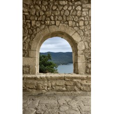 Фотообои - Окно в каменной стене