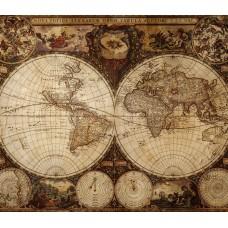Фотообои - Карта морских путей