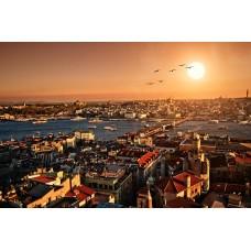 Фотообои - Город на закате