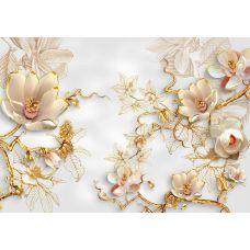 Фотообои - 3Д Цветы