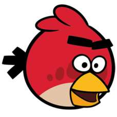 ЧБ Раскраски - Angry Birds