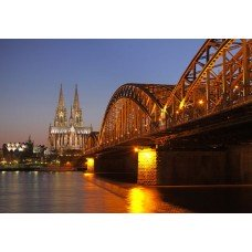 Фотообои - Гогенцоллернов мост Кельн