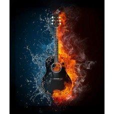Фотообои - Гитара в огне
