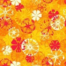 Фотообои - Оранжевые цветы