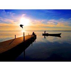 Фотообои - Солнце заходит за горизонт