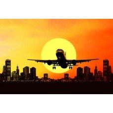 Фотообои - Самолет на закате