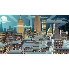 Фотообои - Город из комиксов