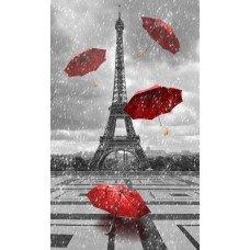 Фотообои - Красные зонты