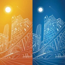 Фотообои - День и ночь