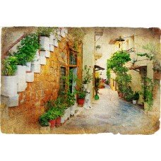 Фотообои - Фрески - Лестница в старом городе