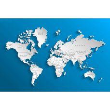 Фотообои - Векторная карта мира