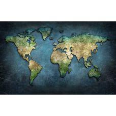 Фотообои - Физическая карта мира